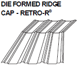 Die Formed Ridge Cap-Retro-R