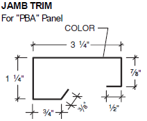 Jamb Trim for PBA Panel