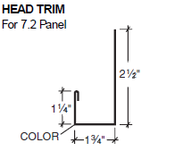 Head Trim for 7.2 Panel