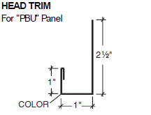 Head Trim for PBU Panel